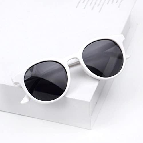UKKO Gafas de Sol Hombre Redondo Niños Gafas De Sol Chicas Niños Goggle Baby Boys Anti-UV Gafas De Sol Sombras Coloridas Uv400 Gafas De Viaje
