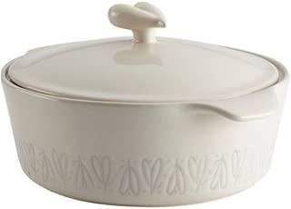 Ayesha Curry Stoneware Round Casserole, 2.5-Quart, French Vanilla