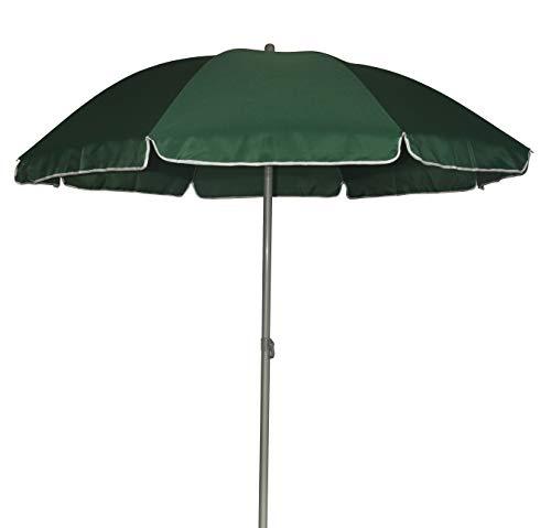 TrendLine Sonnenschirm grün Ø 180 cm UV-Schutz: 60+ Sonnenschutz Strandschirm