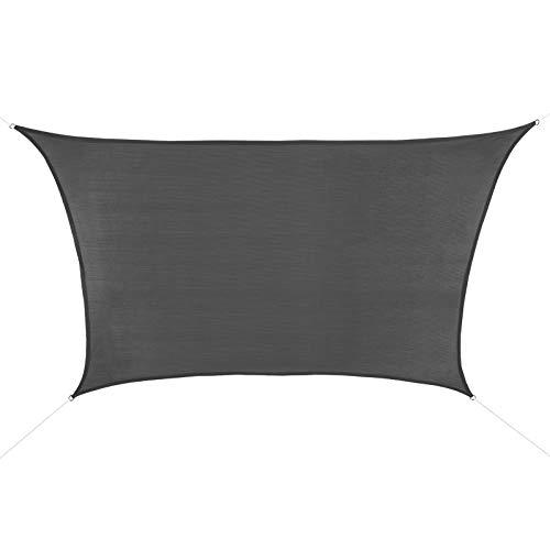 BB Sport Sonnensegel 4m / 5m x 3m Granit Trapez HDPE Sonnenschutz Windschutz Schattenspender UV Schutz Garten Terrasse Camping