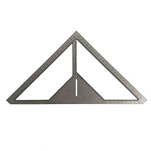 Keifen Regla de drenaje de piso multifunción Acero inoxble Espesar Azulejo de ángulo de 45 ° Regla de triángulo Patrones de flores Albañil Herramienta de medición de baño
