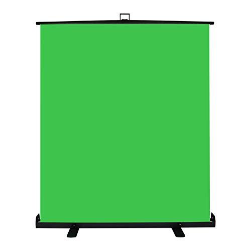 Andoer Green Screen Pannello, Sfondo Verde Schermo Fondale Chiave Cromatica, 150 x 200 per la Rimozione dello Sfondo, Custodia Rigida di Alluminio, per Foto Video, Gioco dal Vivo