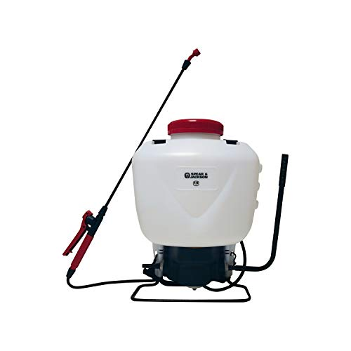 Spear and Jackson 15LPAPS 15 Litre Back Pack Style Pump Action Pressure Sprayer, Multi-coloured, 27.5 x 12.5 x 53 cm