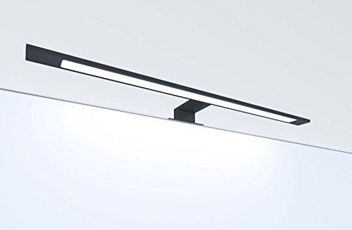 LED Badleuchte schwarz 600mm Spiegellampe Spiegelleuchte Aufbauleuchte, Lichtfarbe:warmweiß