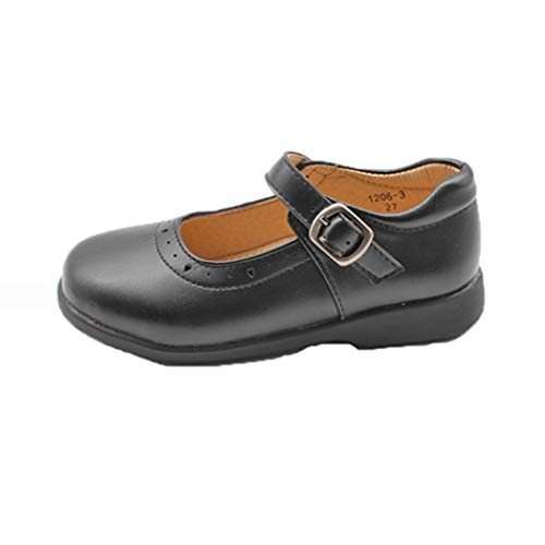 Zapatos Escolares para niños Plataforma para niñas Punta Redonda Cuero Casual Mary...