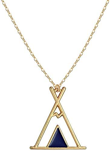 MGBDXG Co.,Ltd Collar geométrico Reloj de Arena Gafas Reloj de Arena Colgante Collar para Mujeres Hombres Oro Plata Vintage Collares Collier