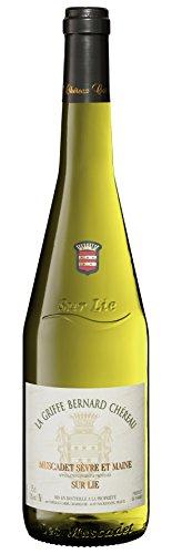 6x 0,75l - 2018er - La Griffe Bernard Chéreau - Muscadet de Sèvre-et-Maine A.C. - sur lie - Loire - Frankreich - Weißwein trocken