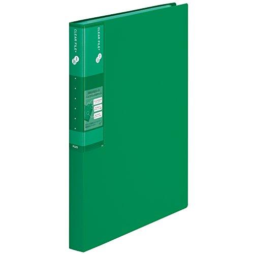 プラス スーパーエコノミークリアーファイル+ 固定式40ポケット 30冊 グリーン