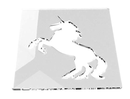 Einhorn Kunst und Handwerk Schablone, mittelgroß, 120 mm, geeignet für Heimdekoration, Scrapbooking und jedes Kunst- und Handwerksprojekt