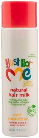 Just for Me Natural Hair Milk Curl Smoother Defines Curls Controls Frizz Contains Coconut Milk product image