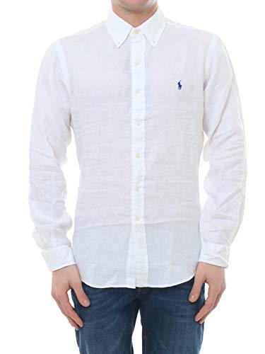 Polo Ralph Lauren Mod. 710794142 Camisa Lino Slim Fit Hombre Blanca XXL