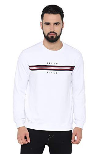Allen Solly Men's Sweatshirt (ASSTWRGHV07545_Optical White_XL)