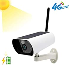 ROMIX 2.0 MP1080P 4G LTE SIM Card Supported Outdoor Wireless Solar Battery Powered Bullet Security IP Camera with PIR Motion Detection, Built in Rechargeable Battery Included