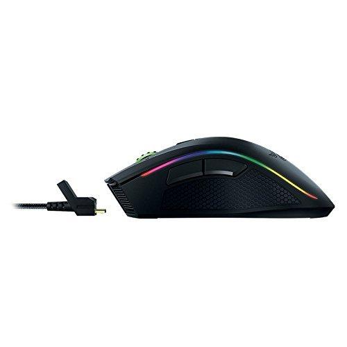 Razer Mamba Wireless Edition RGB Beleuchtete Ergonomische Gaming Maus (Präziser 16.000 dpi Sensor mit 9 programmierbaren Tasten)