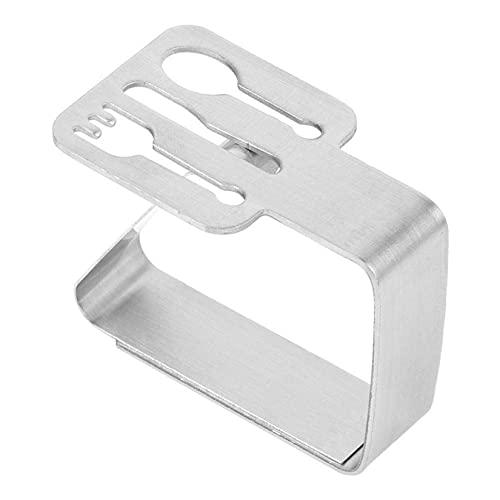 KUANDARGG Clips De Mantel para Mesa De Comedor, Clips De Ajuste De Mantel Abrazaderas De Cubierta De Mesa De Acero Inoxidable Soportes De Mantel 2.56 X 2.05in (Cubiertos), Cutlery