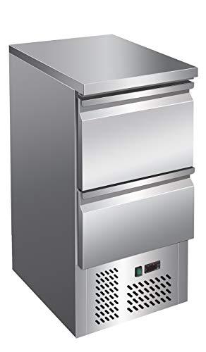 Kühltisch mit 2 Schubladen Arbeitstisch Kühlschrank Vorbereitungstisch Pizzatisch Gewerbe Gastronomie