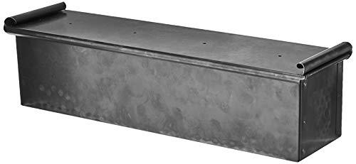 Paderno Bacinella Carre per Pane con Coperchio, 40 cm, Ferro