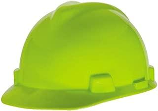MSA 815565 V-Gard Slotted Cap with Fas-Trac III Suspension, Capacity, Volume, Polyethylene, Standard, Hi/Vis Green