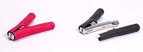 清和工業 日本製 絶縁フルカバー付きワニ口クリップ500A用赤・黒セット BSCC-500DX +-セット〈SEIWA セイワ〉