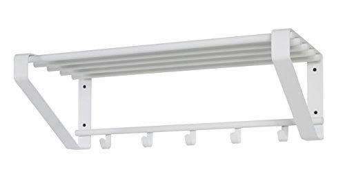 Haku-Möbel Wandgarderobe, Metall, weiß, 30 x 65 x 20 cm