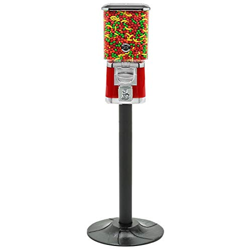 Pro Line Red Metal Gumball Machine with Retro Stand