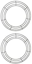 Royalty Essentials 14 Inch Metal Wire Wreath Wire Frame Form Hanger Green 14 Inch Pack of 2
