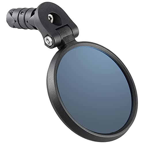 Venzo Bicycle Bike Accessories Handlebar End Mount Mirror Blue Lens 75% Anti-Glare Glass -...