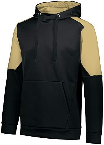 Augusta Sportswear Blue CHIP Hoodie, Black/Vegas Gold, 2XL
