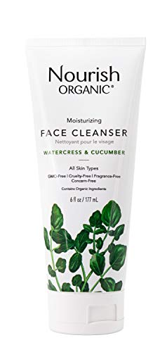 Nourish Organic | Moisturizing Face Cleanser - Watercress & Cucumber | GMO-Free, Cruelty Free, 100%...