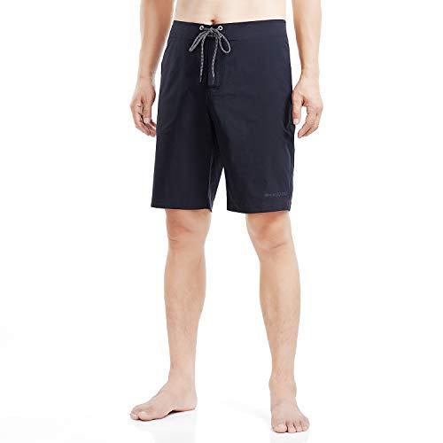 Mount JO-MO Men's Board Shorts Stretch Water Resistant Swim Trunks(2025HS,S) Black