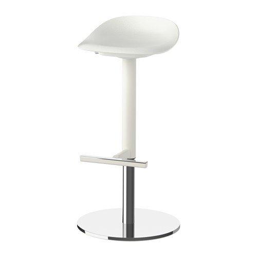Ikea JANINGE Barhocker in weiß; (76cm)