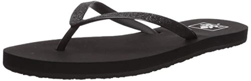 Reef Womens Sandals Stargazer |  Glitter Flip Flops for Women With Soft Cushion Footbed | Waterproof