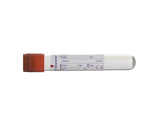 Vacutainer vs367895Serum Tube, 10ml Fassungsvermögen, rot (100Stück)