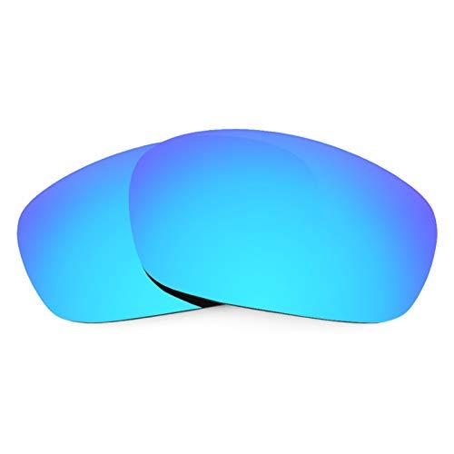 Revant Ersatzgläser für Oakley Racing Jacket (Asiatische Passform), Polarisiert, Eisblau MirrorShield