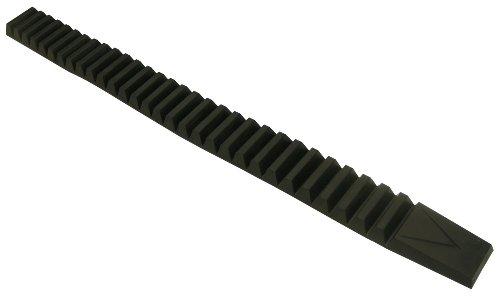 "Pacer Performance 25-500 Black 28 1/2"" Length Heavy Duty Bumper Guard Kit - 2 Piece"