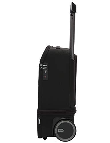 Maleta de cabina   Kabuto   55 cm extensible vertical a 75 cm, Powerbank autorizada en cabina, compartimentos para ordenador portátil, ruedas silenciosas, Fingerprint TSA   negro grafito