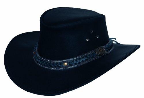 Scippis Homme Chapeau de cuir Wilsons noir