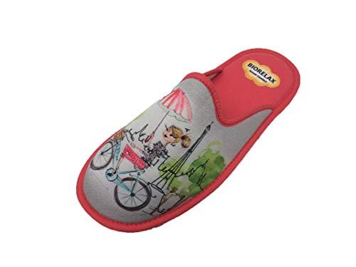 Zapatillas de Estar por casa/Mujer/Biorelax/Primavera/Verano/Multicolor/Puntera Cerrada/con Cámara de Aire/Talla 40