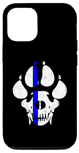 iPhone 12/12 Pro Police Dog Canine K-9 Claws Skull Design Gift Case