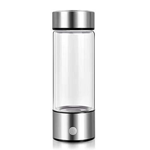GUOJFEN Vaso generador de hidrógeno portátil 420 ml Ionizador de filtro de agua Pem Botella alcalina de hidrógeno rico Electrólisis Vasos para la oficina en casa Suministros para beber en el automóvil