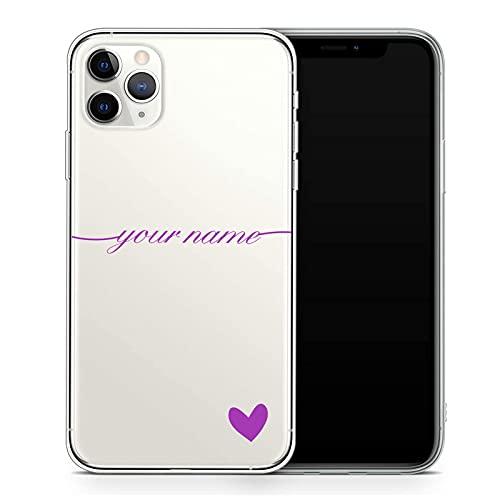 Oihxse Funda Silicona Personablizable Compatible con Huawei P9 Lite, Texto Diseño Carcasa Transparente Suave, Personalizada Nombre Propio TPU Cover, Regalo para Esposa Marido Amigo