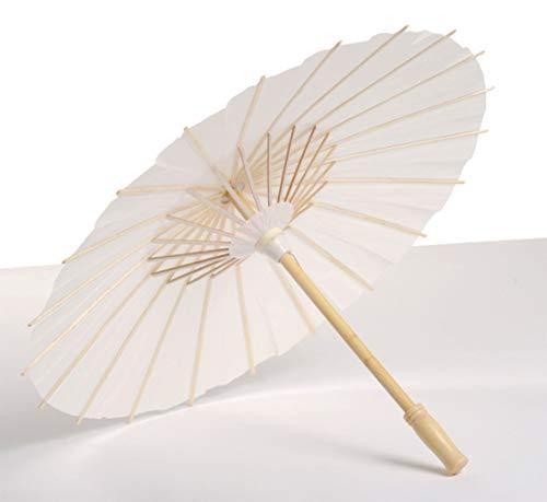 Egurs DIY witte lege paraplus Chinese olie papier bamboe parasol voor bruiloft feest XL