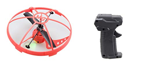 Mindscope Sky Lighter Micro UFO Red Infrared Remote Control 3 Channel Rechargeable LED Light Up Drone