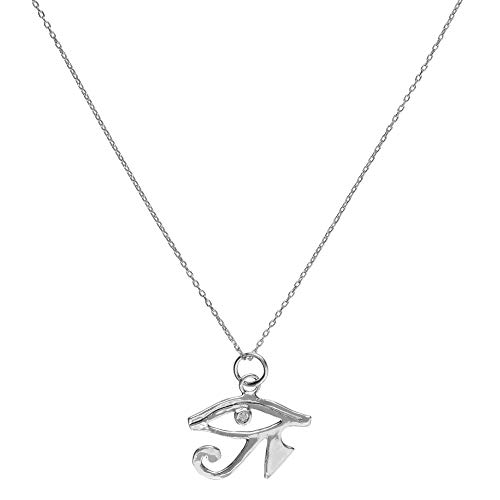 Córdoba Jewels | Gargantilla en Plata de Ley 925 con zirconitas con diseño Ojo de Horus Silver