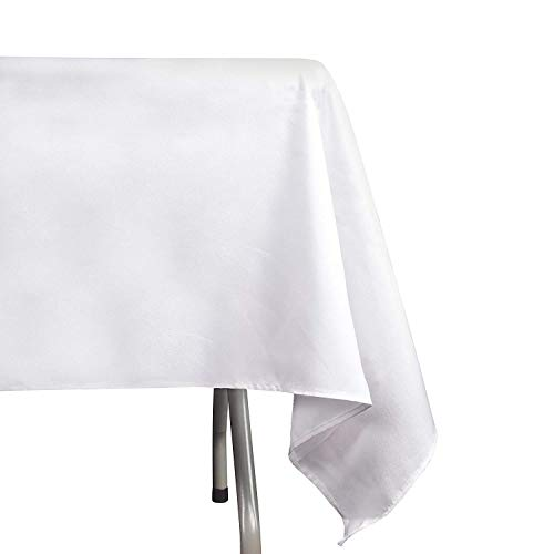 Emart Round Tablecloth 6 Pack 120 Inch Diameter White 100 Polyester Banquet Wedding Party Picnic Circle Table Cloths Emartinc Kitchen Dining Home Kitchen