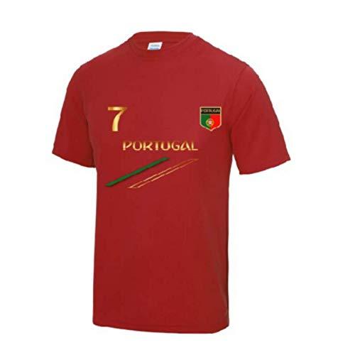 Awdis Maillot - Tee Shirt de Foot Portugal Enfant Rouge - Rouge - 9/11 Ans