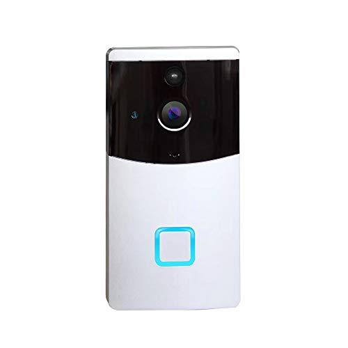 XALZ Ring Video Deurbel Alarm Intelligente Wifi Draadloze Zichtbare Deurbel Nachtzicht Telefoon Afstandsbediening Draadloze Deurbel Camera Eenvoudige Installatie, Zilver