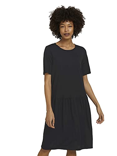 TOM TAILOR mine to five 1025646 Basic Vestido, 14482 Deep Black, 36 para Mujer