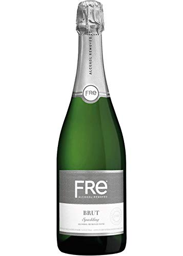 Sutter Home FRE Brut Non-Alcoholic Champagne & Sparkling Wine, Frustration-Free Packaging - 750 Ml | Pack of 6
