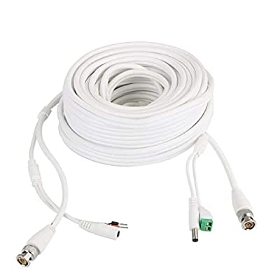 60Ft PTZ Power Video & RS-485 Control Cable for Q-See Zmodo Swann PTZ Cameras